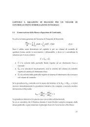 77 CAPITOLO 5. EQUAZIONI DI BILANCIO PER UN ... - Dimeca