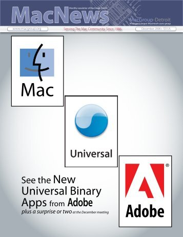 Universal Binary Apps from Adobe - MacGroup-Detroit