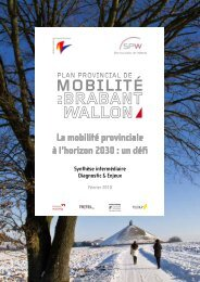 La mobilité provinciale à l'horizon 2030 : un défi - Province du ...