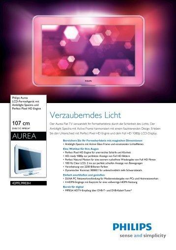 Leaflet 42PFL9903H_10 Released Germany (German) High-res A4.fm