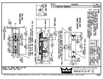 Dorma Model CP440 Template - Epivots