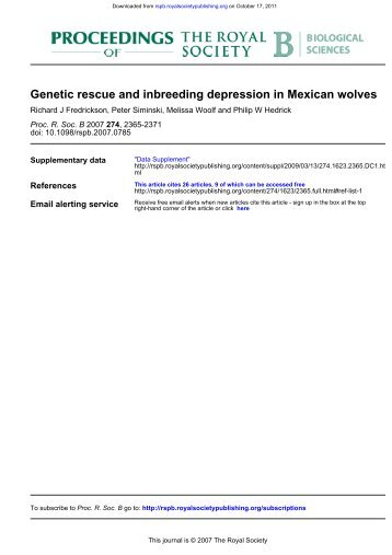 Genetic rescue and inbreeding depression in Mexican wolves