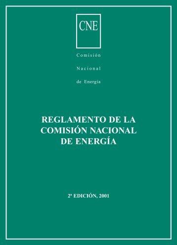REGLAMENTO DE LA COMISIÓN NACIONAL DE ENERGÍA 2a