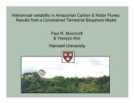 Interannual variability in Amazonian Carbon & Water Fluxes
