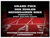 Grand Prix des écoles secondaires Nike - Ontario Federation of ...