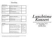 Lunchtime Konzert - Robert Schumann Hochschule Düsseldorf