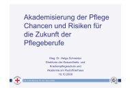 Akademisierung der Pflege Chancen und Risiken ... - Vinzenz Gruppe