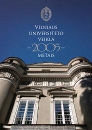 Vilniaus universiteto veikla 2005 metais - Vilniaus universitetas