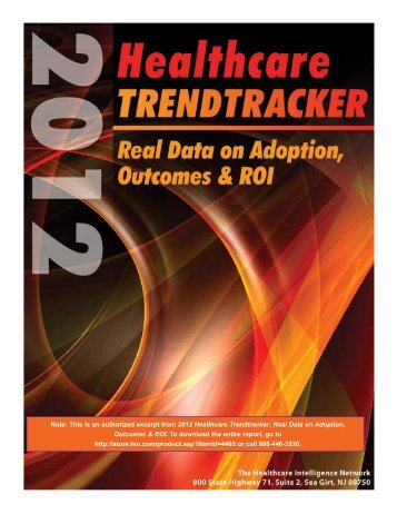 "View the preview of ""2012 Healthcare Trendtracker: Real Data on ..."