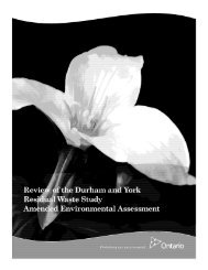 Ministry Review (PDF) - Durham York Energy Centre
