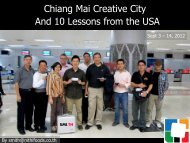 Chiang Mai Creative City And 10 Lessons from the USA