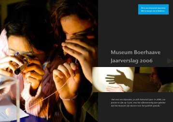 Museum Boerhaave, jaarverslag 2006