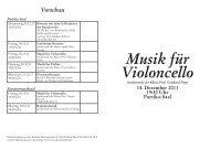 Musik für Violoncello - Robert Schumann Hochschule Düsseldorf
