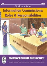Information Commissions: Roles & Responsibilities