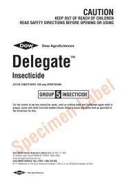 Delegate Insecticide label - Agtech.com.au