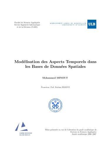 Modélisation des Aspects Temporels dans les Bases de Données ...