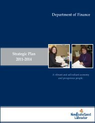 Department of Finance Strategic Plan 2011-2014