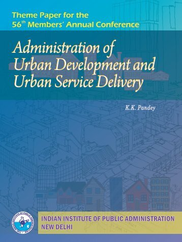 Administration of Urban Development and Urban Service Delivery ...