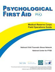 psychological first aid psychological first aid - The National ...