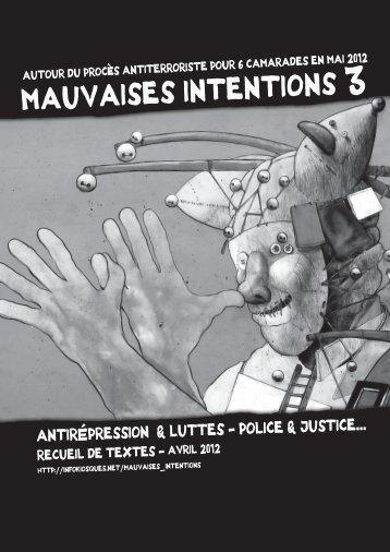 Mauvaises intentions #3 [80p. A4] - PDF (10.7 Mo) - Infokiosques.net