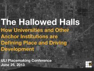 The Hallowed Halls: How Universities and Other ... - Archive - ULI