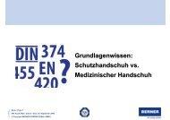 Schutzhandschuh vs. Medizinischer Handschuh - BERNER ...
