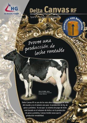 Canvas provee una producción de leche rentable
