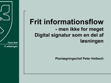 Frit informationsflow - men ikke for meget Digital ... - EPJ-Observatoriet