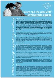 Forum and the post-2015 development agenda (pdf)