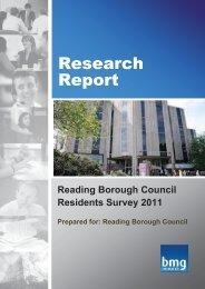 Resident Survey - Full Report 2011 - Reading Borough Council