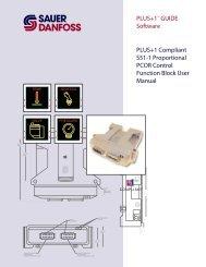 PLUS+1 Compliant S51-1 Proportional PCOR ... - Sauer-Danfoss
