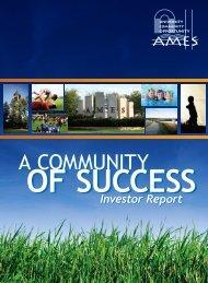 AEDC Investor Report - Ames Economic Development Commission