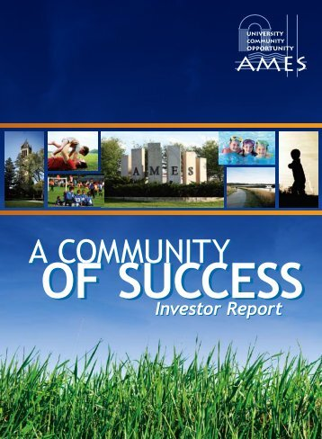AEDC Investor Report - Ames Economic Development Commission