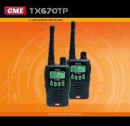 2 watt handheld UHF CB radio INSTRUCTION MANUAL - GME