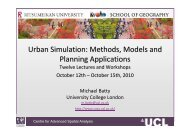 Urban Simulation: Methods, Models and Planning Applications