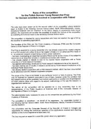 Rules of the competition for the Polish-German Young Researcher ...