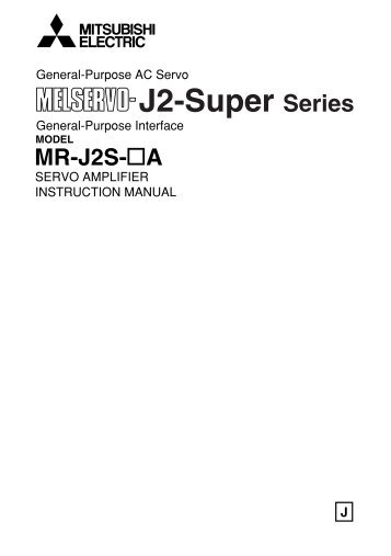MR-J2S-A Instruction Manual - Automation Systems and Controls