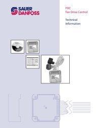 FDC Fan Drive Control Technical Information - Sauer-Danfoss