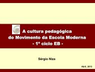 A cultura pedagógica do Movimento da Escola Moderna - 1º ciclo EB