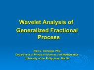 Wavelet Analysis of Generalized Fractional Process