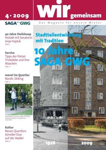 2009 gemeinsam 10 Jahre SAGA GWG