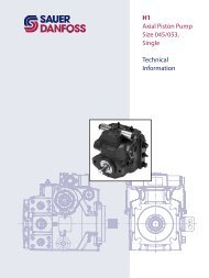 H1 Axial Piston Pump Size 045/053, Single ... - Sauer-Danfoss