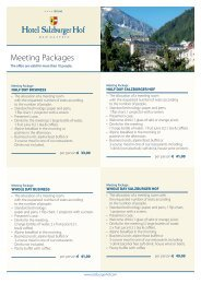 information - Hotel Salzburger Hof