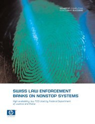 Federal Department of Justice and Police - HP Integrity NonStop ...