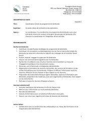 Coordinateur (trice) - David Suzuki Foundation