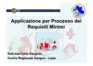 Applicazione per Processo dei Requisiti Minimi - Regione Lazio