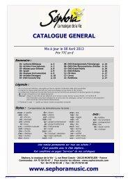 Catalogue Général Particuliers Printemps 2013 - Sephoramusic.com