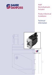 PVEP Electrohydraulic Actuator Product Electrical ... - Sauer-Danfoss