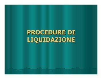 PROCEDURE DI LIQUIDAZIONE - Tribunale di Varese