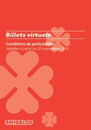 Billets Online - Swisslos